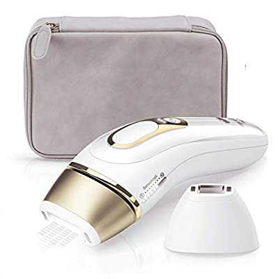 Braun IPL Silk Expert Pro 5 PL5124 Generation IPL, Permanent Visible Laser Hair Removal for Women and Men with Premium Pouch, Venus Razor and Precision Head, White and Gold from Procter & Gamble
