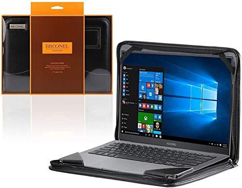 Broonel - Serie Contour - Funda Protectora De Cuero Negro De Alta Resistencia Compatible con La ASUS Zenbook UX331