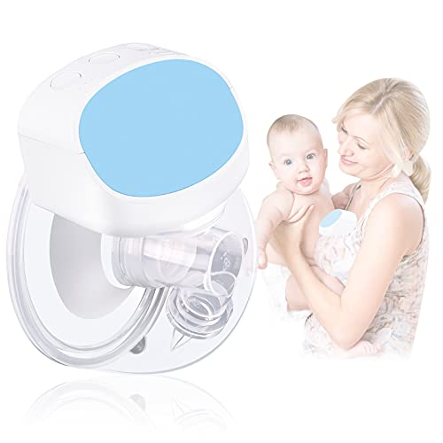 Bomba de leche materna portátil, extractor de leche materna eléctrico, manos libres Sacaleches, silencioso, 180 ml, para lactancia (individual, recargable) - 24mm