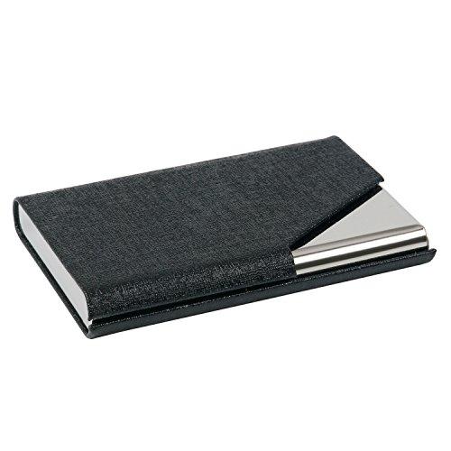 TRIXES Porte-cartes de Visite Professionnel Noir avec Élégante Finition Simili Cuir