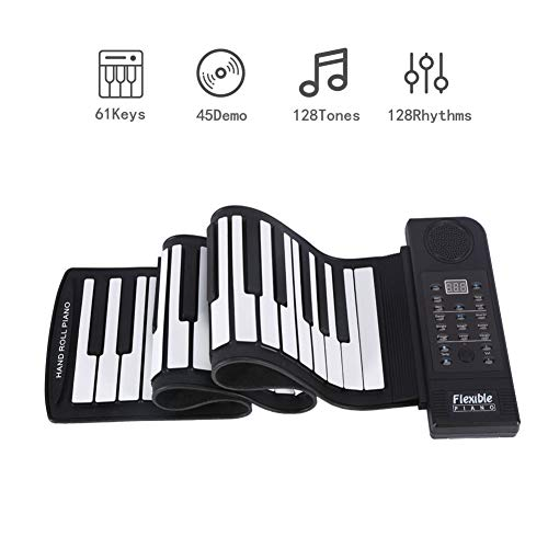 61 Keys Roll Up Piano, Pianoforte Portatile...