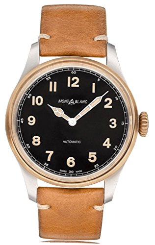 Montblanc 1858 Herren-Armbanduhr 44mm Armband Leder Braun Automatik 116241