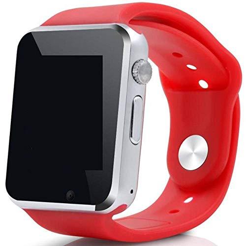 Smartwatch A1 Relógio Inteligente Bluetooth Gear Chip Android iOS Touch Faz e atende ligações SMS Pedômetro Câmera - VERMELHO