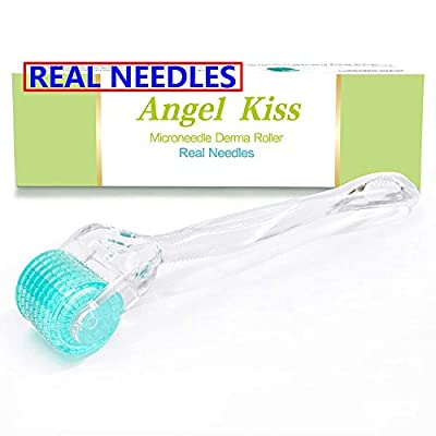 Angel Kiss Derma Roller 192 Micro Needle 0.3mm Individual Stainless Steel Microneedles Cosmetic Instrument Microdermabrasion Tool - Includes Storage Case
