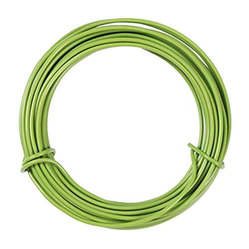 Cabilock Garten Pflanze Twist Tie Biegbare Metallbeschichtete Pflanze Kletterdraht Unterstützung Pflanze Reben Schnur Befestigung Wickelschnur für DIY Handwerk nach Hause 10M (Grün)