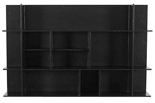 étagère PANORAMA en MDF, laquage mat - design temahome - déco et design - 75 x 120 x 23 cm (HxLxP) - noir