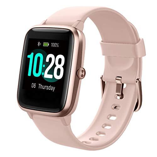 Smartwatch, fitnessarmband, volledig touchscreen, 5 ATM, waterdicht, voor dames en heren, smartwatch voor Android IOS, fitnesshorloge met hartslagmeter, slaapmonitor, stopwatch, muziekbediening, sporthorloge, activiteitstracker