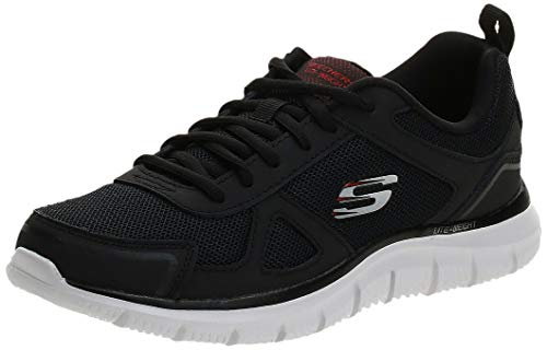 Skechers Herren 52631-BKRD_48,5 Running Shoes, Schwarz Weiß, 48.5 EU