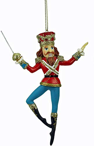 Gisela Graham One resin nutcracker soldier christmas hanging decoration