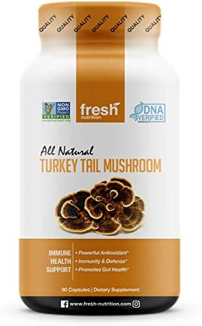 Organic Turkey Tail Mushrooms Strongest DNA Verified for Potency Immune System Booster High product image