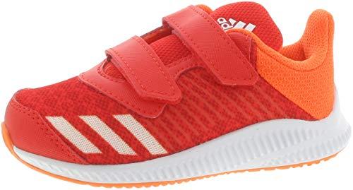 adidas Fortarun Cloudfoam, Scarpe da Ginnastica Basse Unisex-Bambini, Rosso (Hirere/Ftwwht/Hireor Hirere/Ftwwht/Hireor), 21 EU