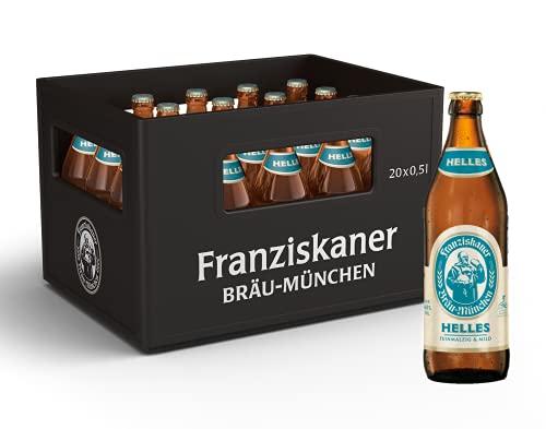 Franziskaner Helles Flaschenbier, MEHRWEG (20 x 0.5 l) im Kasten, Helles aus München