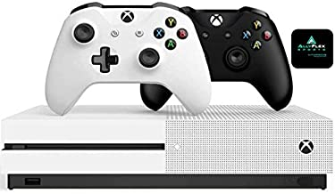 Microsoft Classic Original Xbox One S 1TB HDD with 4K Blu-ray DVD Reader, Two Wireless Controllers Black and White Include...