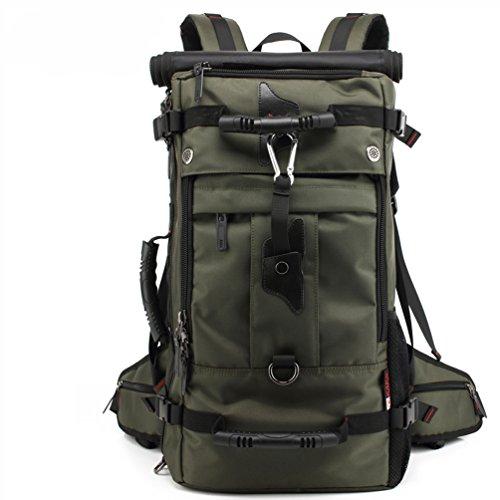 SUNWIN Large Travel Backpack Latop Bag Knapsack 40L Hiking Camping Bag Waterproof BackpackFor 17 Inch Laptop (Army Green)