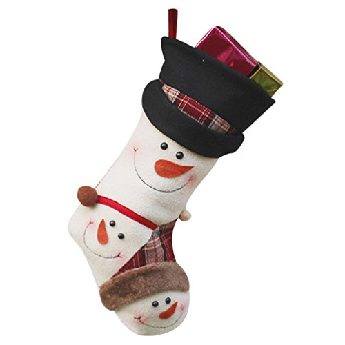 YiLianDa Non Tissé Neige Bottes Chaussettes Père Noël Bas De Noël Décorations De Noël Chaussettes A Suspendre Cadeau