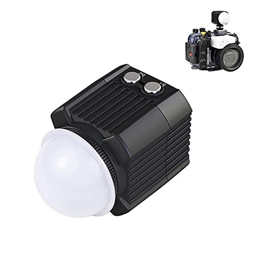 Fututech - Lámpara de llenado LED de 60 m bajo el agua, 2000 lm, lámpara de buceo impermeable IPX8 para GoPro HERO9 HERO8 HERO7 6 5 para Insta360 One R DJI Osmo Action Otra cámara de acción
