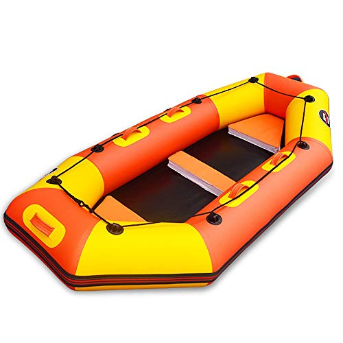 Deportes Acuáticos Barco de deriva profesional duradero Kayak de cuero engrosado Barco de pesca inflable Barco de goma de fondo duro Barco de asalto Barco de deriva ( Color : Naranja , tamaño : 2.4M )