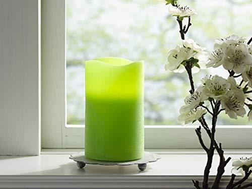 LED Leuchtkerze Echtwachs flackernd grün