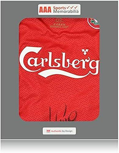 los clientes primero Desconocido Camisa para el hogar firmada firmada firmada por Luis Garcia Front Liverpool 2004 – 05 Istanbul  calidad auténtica