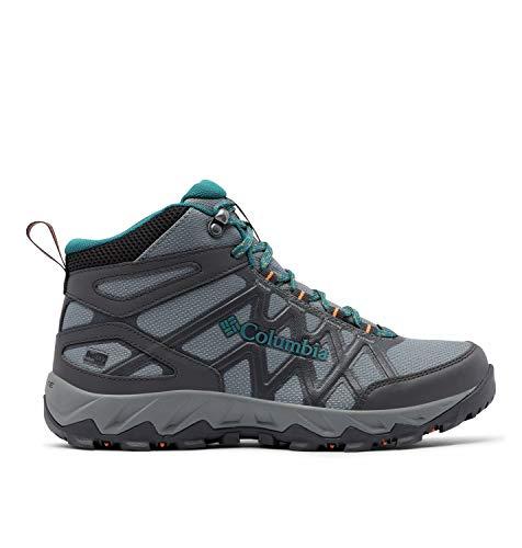 Columbia PEAKFREAK X2 MID OUTDRY Scarpe da passeggio, Donna, Grigio, Verde (Ti Grey Steel, Deep Wave), 36 EU