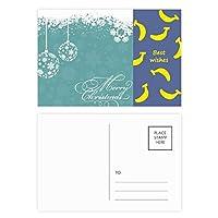 クリスマスの雪片のボールフェスティバル バナナのポストカードセットサンクスカード郵送側20個