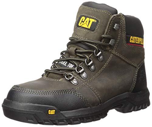 Caterpillar Men's Outline Steel Toe Work Boot, Dark Gull Grey, 13 W US