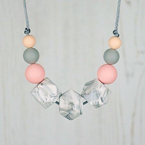 Silicone Teething Necklace for Mum, Nursing Jewellery. BPA Free Silicone Beads. UK Handmade