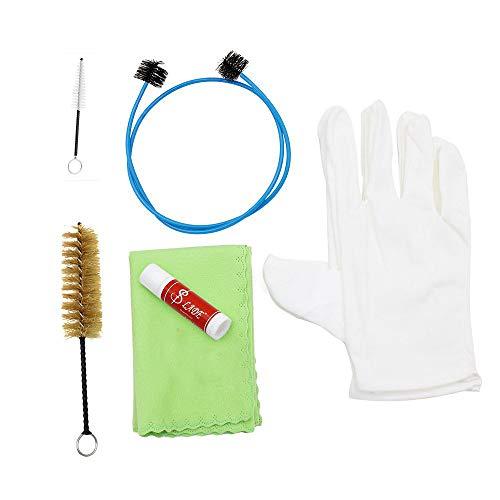 Pannow Reinigungsset für Schlagzeug, Trompete, Posaune, Tuba, Horn, Reinigungsset mit Reinigungstuch, Bürste, Handschuhe