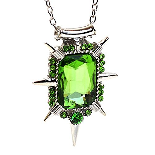 """Collana con pietra verde della malvagia strega Zelena e Glinda in """"Once upon a time"""""""