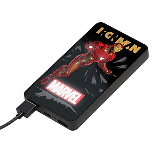Tribe Power Bank 6000 mAh Iron Man – Cargador de batería portátil Universal Marvel, PBW31600