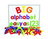 Excellerations Giant Foam Magnetic Alphabet Letters and Numbers, 114 Pieces, Educational, Preschool, Language, Kids Toys
