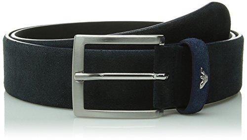 0005T cintura uomo ARMANI JEANS blu WITHOUT BOX suede belt men [IV/90 CM]
