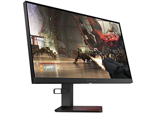 OMEN X 25f (24,5 Zoll / FHD 240Hz) Gaming Monitor (2x HDMI, Displayport, 2x USB 3.0, Audio Out, 1ms Reaktionszeit, höhenverstellbar, 16:9, Adaptive Sync, G-sync, FreeSync) schwarz