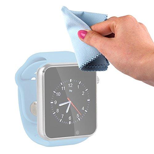 DURAGADGET Gamuza Limpiadora para Reloj YuanGuo | Smarter | Smartlife YG8 | Stoga ST-DM360 | Turnmeon | Viwel | VOSMEP - Mantenga Dispositivo Impecable