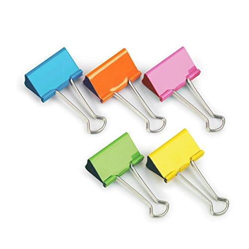 Rapesco FBC19COL Stahlklammer (10 Stück pro Packung, 19mm,bis 75 Blätter) verschiedene Farben