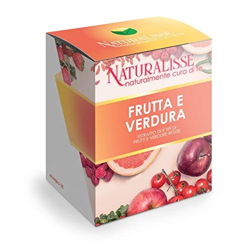 Naturalisse FRUTTA E VERDURA - Integratore Alimentare con 9 Estratti di Frutta e Verdura - Azione Antiossidante, Multivitaminica, Drenante E Regolarizzante - 30 capsule