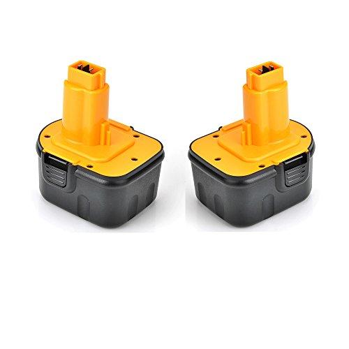 2* Masione 12 V 2.0Ah Bater/ía de repuesto para DeWalt DC9071//DE9037//DE9071//DE9094//DE9074//DE9075//DW9071//DW9072//152250-27//397745-01