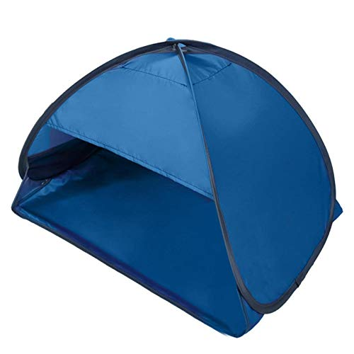 Refugio Sol Playa,Mini Carpa Personal Solar Instantánea Al Aire Libre Portátil Tienda Protección Sombra Cabeza Facial para Protección contra Arena A Prueba Viento En La Playa,Azul