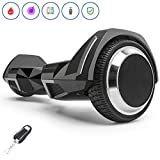 Spadger Hoverboard 350w Scooter 6.5' Off Road Wheels Self Balancing Hoverboard R5 with Bluetooth Speaker and LED Lights APP Enabled Electric Scooter for Adult Kids - UL 2272 Certified