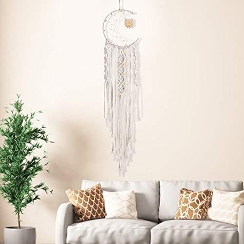 Bershaker Dream Catcher,Handmade Macrame Woven Wall Hanging,Bohemian Handmade Room Hanging Tapestry,Wedding Decoration Crafts,Boho Woven Hanger Wall Pediment,Ornament for Home Decor Gift(Owl)