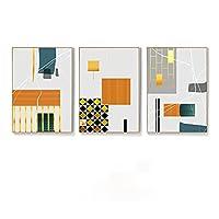 抽象的な壁の芸術シンプルな北欧の寝室ベッドサイドダイニングルーム家の装飾雰囲気壁の印刷ぶら下げ絵画30x40cmx3フレームレス