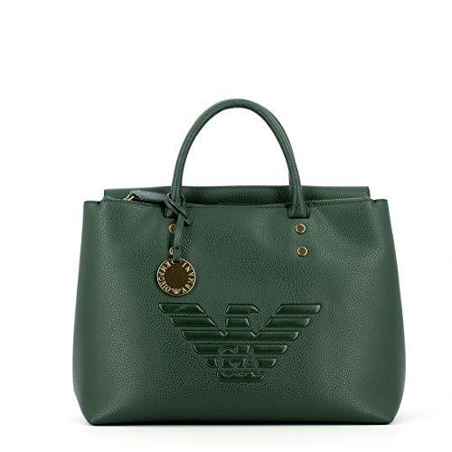 Emporio Armani Damen Accessoires Borsa Shopping Verde FW 19-20
