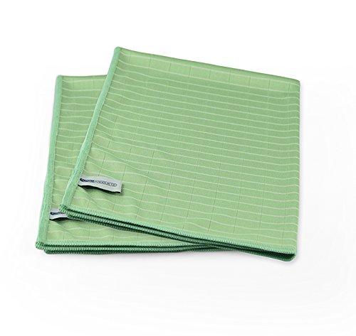 Turboprodukte Microfaser-Bambus Reinigungstücher im 2er Set in Grün - Perfekt für Glatte Oberflächen
