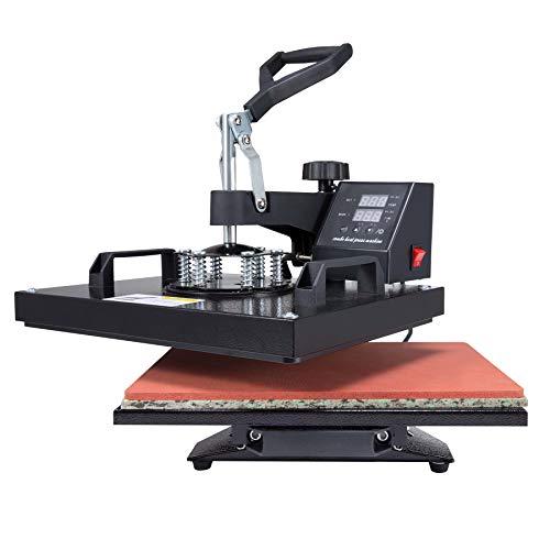 CO-Z 30X38CM Heat Press Dual Digital Control 360 Degree Swivel Heat Press Machine Multipurpose Combo Kit Sublimation Heat Press Machine for T Shirts