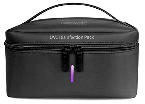 NuvitaMed – Sterilizzatore UV Portatile - Elimina 99.9% di Virus e Batteri – Sterilizzatore UV Borsa, Sterilizzatore Smartphone, Mascherine e Chiavi – Sterilizzatore UV-C – Tecnologia ad Ozono