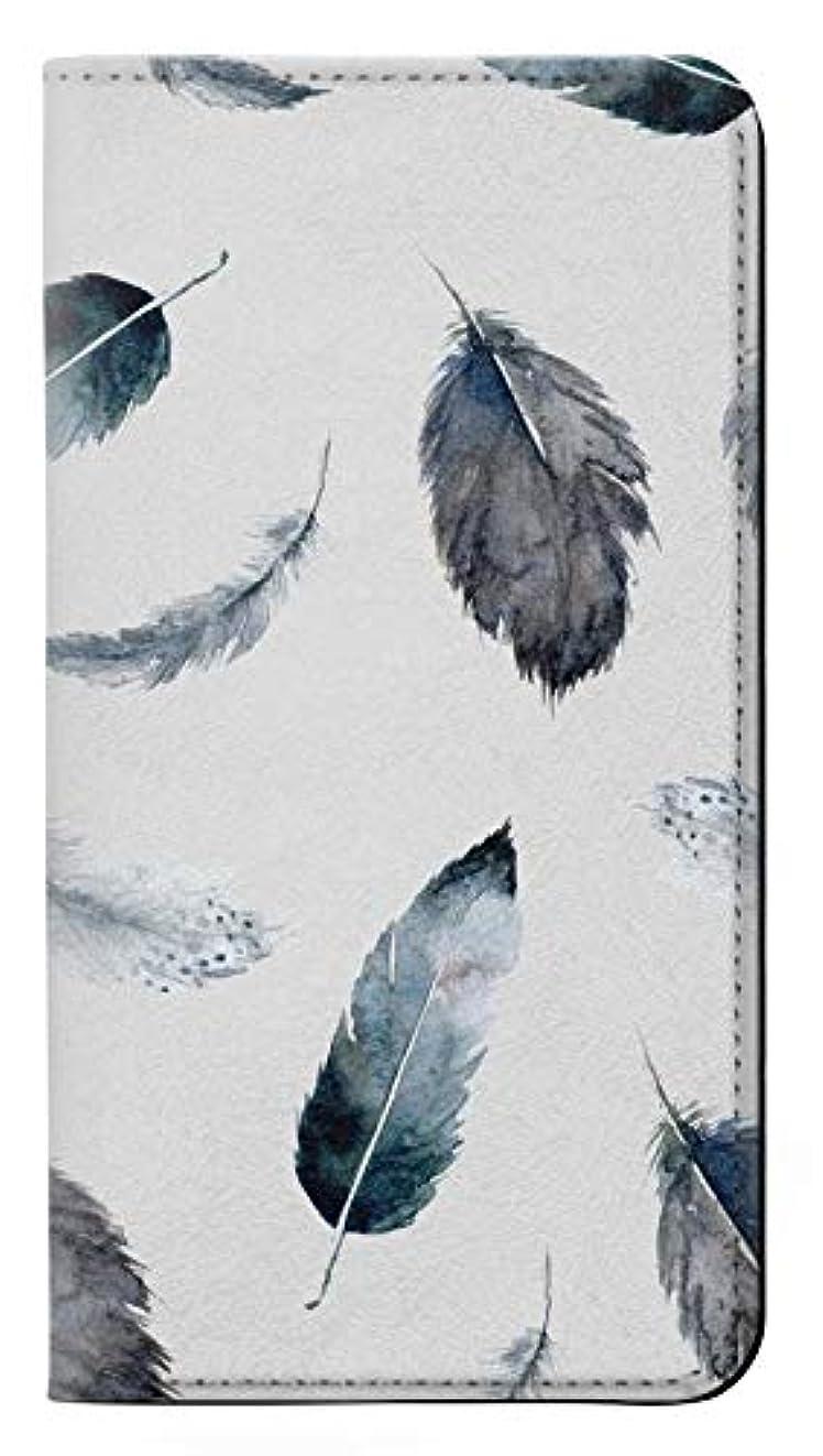 不健全挽くラックJPW3085I1M 羽 Feather Paint Pattern iPhone 11 Pro Max フリップケース