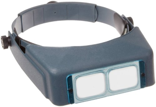 "Donegan DA-10 OptiVisor Headband Magnifier, 3.5x Magnification, 4"" Focal Length"