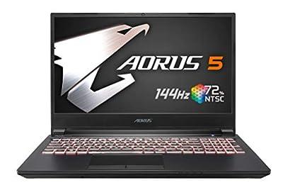 [2020] AORUS 5 (KB) Gaming Laptop, 15.6-inch FHD 144Hz IPS, GeForce RTX 2060, 10th Gen Intel i7-10750H, 16GB DDR4, 512GB NVMe SSD
