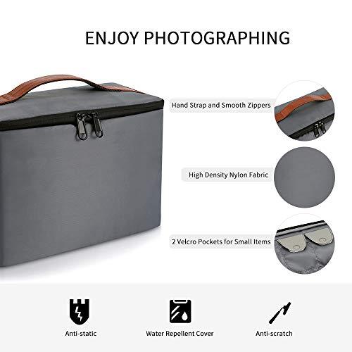Kattee Camera Insert Bag DSLR SLR Padded Camera Case Water-Resistant Shockproof for Travel