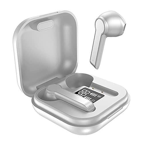 LINXHE Auriculares inalámbricos, Auriculares inalámbricos, IPX5 Auriculares inalámbricos Impermeables Control táctil, TWS Auriculares Bluetooth 5.0, 25 hrs con USB-C Cargando con Correr/Fitness